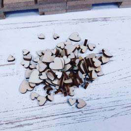 set de 100 discos en corazones mini madera   ,para adornos  o decorar tu boda  ch