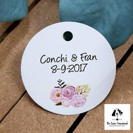 Tarjeta para detalles  flores dulces