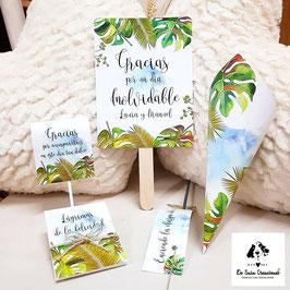 Pack 4 piezas por 1€ colección tropical