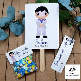 Pack 3 piezas comunión chico marinero (Pai pai-bengala-confeti)