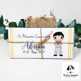 Tabletas de chocolate comunión chico horizontal marinero
