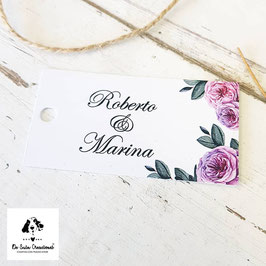 Tarjeta para detalle rectangular sin cantos rosalinda