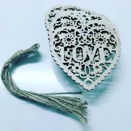 set  10 piezas  love con cuerda para colgar  forma corazon  .ch medida 8x8