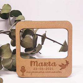 Portafotos para nevera comunión modelo paloma