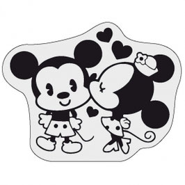 ETIQUETA AMOR    novo Si eres fan de Mickey Mouse y Minnie En esta etiqueta Minnie le da un beso a su amado Mickey