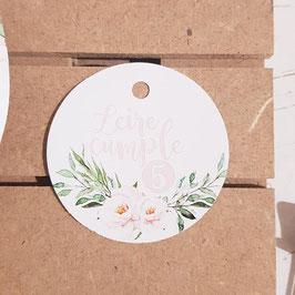 Tarjeta para detalles flor elegancia cumpleaños paquete de 10 unidades