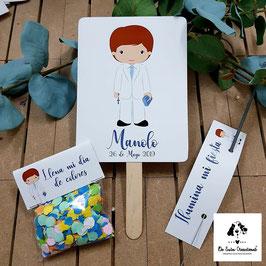 Pack 3 piezas comunión chico traje blanco (pai pai-bengala-confeti)