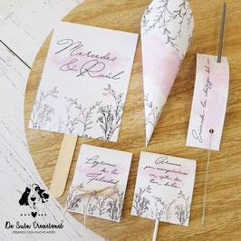 Pack 4 piezas 1€ colección nube rosa  -pulsando boton 3 y 5 piezas