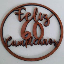 Topper cumpleaños para plato  , pone observaciones de pedido edad que desea MEDIDA 16CM