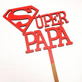 Topper para tarta super  papa (Número) Disponible en 2 colores y color madera