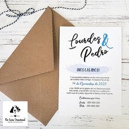 Invitación mancha azul