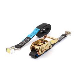 Spanband 25 mm binnensjorring met eindfitting voor airline rail
