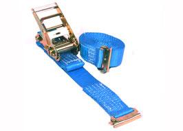 Spanband HD interne sjorring met eindbeslag voor combinatie ankerrail