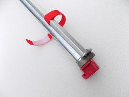 Kledingstang voor sleutelgatplaat met kunststof haakkop