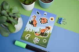 Sticker Sheets - Diverse Motive