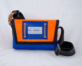 Tasche Orange/Blau mit Edelweiss