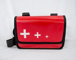 Tasche Rot mit 3 Kreuzen