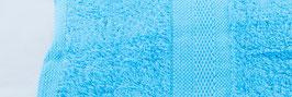 Duschtuch bestickt - hellblau