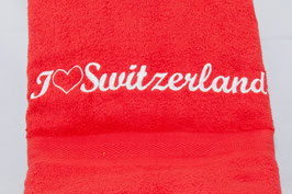 "Duschtuch ""Switzerland"" - rot"