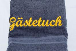 """Duschtuch """"Gästetuch"""" - anthrazit"""
