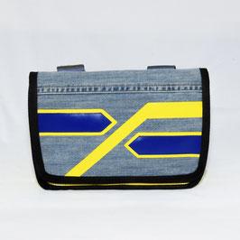 Tasche Jeans mit Streifen gelb/blau