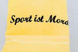 "Duschtuch ""Sport ist Mord"" - zitrone"