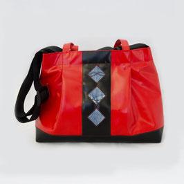 Tasche Rot/Schwarz gross