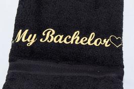 """Duschtuch """"My Bachelor"""" - schwarz"""
