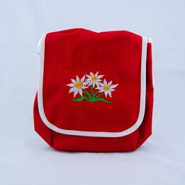 Tasche 3 Edelweiss - rot