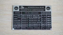 Typenschild Iso Shell / type plate Iso Shell / Targhetta Iso Shell