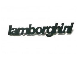 Schriftzug Lamborghini schwarz/ Script Lamborghini black