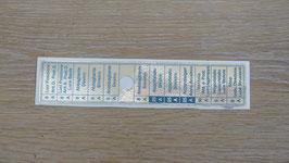 Aufkleber Sicherungskasten asymmetrisch / Sticker fuse box asymmetric
