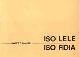 Betriebshandbuch  / Owners Operation Manual Fidia Lele