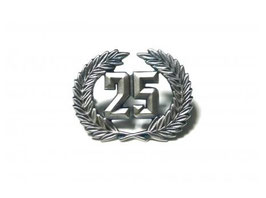 Emblem 25 Jahre / Badge 25 anniversary