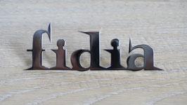 Schriftzug Fidia / Script Fidia