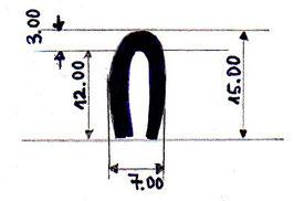 Gummiprofil Motorraum / rubber profil engine bay