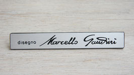 Schriftzug Disegno Marcello Gandini / Script Disegno Marcello Gandini
