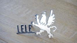 Schriftzug Lele mit Greif / Script Lele with Grifo badge