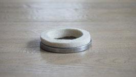 Haltering mit Öldichtung Filz / Retainer with oil seal felt
