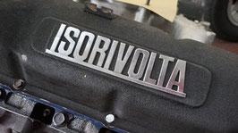 Schriftzug ISORIVOLTA auf Metallplatte / Script ISORIVOLTA on metall sheet