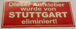 150 Stuttgart eliminiert Aufkleber