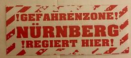 150 Nürnberg Gefahrenzone Aufkleber