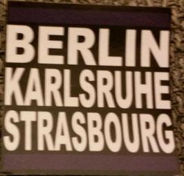 Berlin Karlsruhe Strasburg Aufkleber