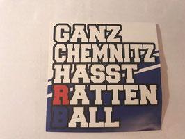 150 Ganz Chemnitz hasst Rattenball Aufkleber