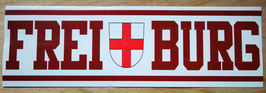 Freiburg Stadtname Stadtwappen länglich Aufkleber