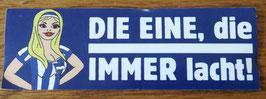 Berlin die eine die immer lacht Aufkleber