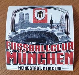 München Fussballclub Meine Stadt Mein Club Aufkleber