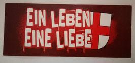 Freiburg Ein Leben eine Liebe Aufkleber