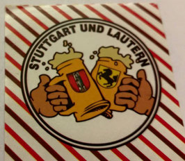 150x Stuttgart Kaiserslautern Freundschaft Bier Aufkleber