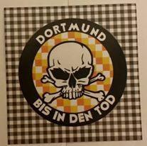 150 Dortmund bis in den Tod rund Aufkleber